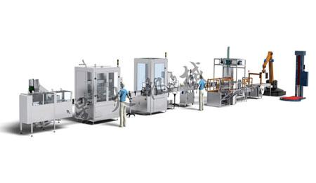 6000瓶/小时农药高速灌装生产线