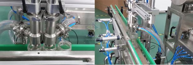 双头酱料灌装生产线细节展示