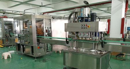 全自动膏液灌装旋盖生产线