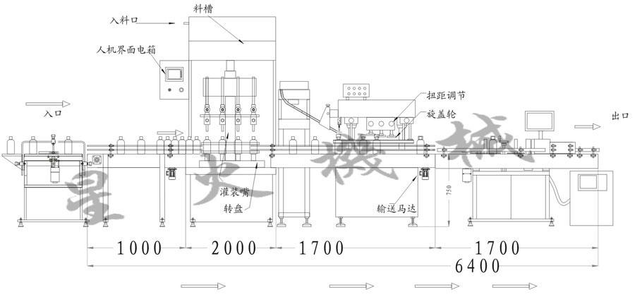 食用油灌装旋盖贴标喷码线|河南郑州星火包装机有限